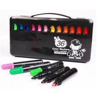 儿童水彩笔 折叠包装 水性环保 12 24 36色水彩笔套装