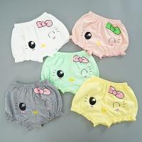 女童儿童内裤平角宝宝短裤小孩纯棉松口面包裤婴儿四角裤0-1-3岁