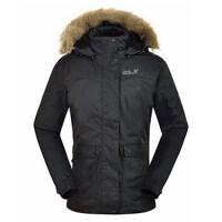 狼爪(Jack Wolfskin)女士户外夹棉夹克带毛领冲锋衣1103131