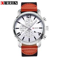 CURREN卡瑞恩8194 中性帆布带手表 日历手表休闲商务防水石英表