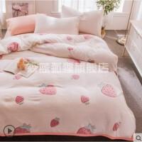 3D毛毯薄款法兰绒珊瑚绒毯子加厚冬季床单人学生宿舍午睡毯