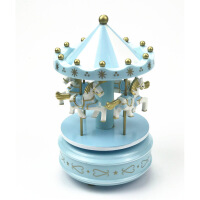 ?旋转木马蛋糕装饰摆件 生日蛋糕旋转木马装饰 蛋糕装饰配件八音盒