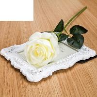 艾欧唯 塑料花假花单支客厅装饰花绢花餐桌摆件仿真玫瑰花束干花花艺插花