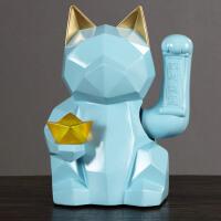 创意招财猫摆件酒柜装饰品家居客厅电视柜玄关摆设店铺开业礼品