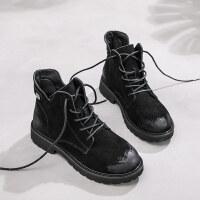 马丁靴女英伦风内增高秋季2018新款韩版百搭厚底小短靴chic矮靴子