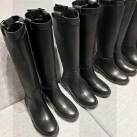 2018秋冬新款皮靴子女长靴不过膝平底女靴高筒靴马靴骑士靴长筒靴SN9467