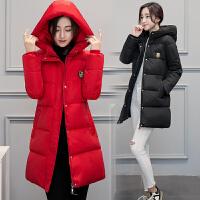 反季处理棉衣女中长款外套修身加厚韩版羽绒秋冬装面包服