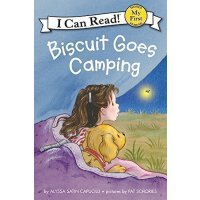 【全场300减100】【送音频】英文原版绘本 I Can Read Biscuit Goes Camping 小饼干去露