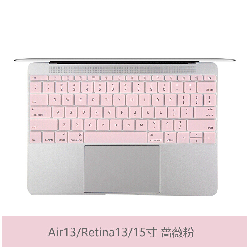 macbook苹果pro13寸13.3电脑air笔记本mac键盘膜12贴膜15保护膜11 Air13/老Pro 蔷薇粉