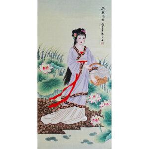现代画家  杨丽     西施浣纱  /