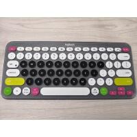 Logitech 罗技K380 多设备无线蓝牙键盘保护贴膜台式机按键防尘套凹凸垫罩套透明彩色键位膜全 多彩