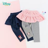 【3折价:55.5】迪士尼Disney童装 甜美女宝裙裤小米妮印花裤子褶皱裙摆打底裤193K885