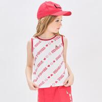 暇步士童装儿童背心2020夏季新款女童无袖上衣T恤印花中大童吊带