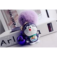 机器猫钥匙扣 叮当钥匙挂件 包挂 獭兔毛球汽车钥匙链