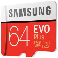 三星(SAMSUNG)64GB TF(MicroSD)存储卡 TF卡 64G U3 C10 4K EVO升级版+ 读速