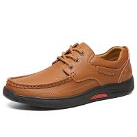 男士新款老人鞋防滑透气户外爸爸鞋圆头耐磨休闲徒步鞋