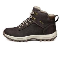 冬季户外高帮加绒保暖登山鞋男棉靴越野徒步鞋子男旅游鞋大码男鞋