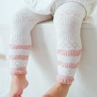 新生婴儿宝宝打底裤防蚊夏季网眼薄款可开档儿童女童九分裤袜yly