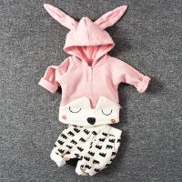 婴儿童装套装春秋女宝宝春季0岁1个月3春装2男童4卫衣服6潮婴幼儿