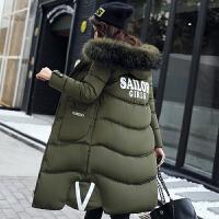 20180519055947305冬季新款棉衣女中长款韩国过膝棉袄羽绒外套