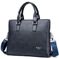 男包单肩包男士包包背包斜挎包商务公文包休闲跨包包 蓝色款式一