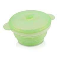 折叠碗硅胶折叠伸缩户外旅行餐具学生泡面方便面带盖便携碗