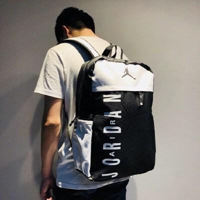 乔丹双肩包潮男女运动旅行包电脑包中小学生AJ书包飞人健身背包