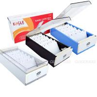 益而高 名片盒 名片座名片818M 约装600张名片 塑料分类收纳盒大容量 大容量索引分类名片盒 卡牌整理盒