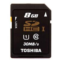 东芝 SD卡 8G CLASS10 SDHC 8G C10 高速SD卡 8g 30M 相机内存卡 8G