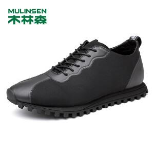 木林森男鞋 男士舒适系带透气时尚运动休闲鞋 05377630