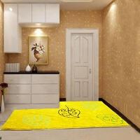 金黄色风水大地毯进门换鞋踩脚垫入户玄关门口地垫可定制卧室垫子
