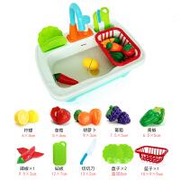 儿童宝宝厨房洗碗机水龙头小出水池洗菜台水槽洗手盆戏水玩具 A81 仿真出水洗菜盆(基础款)