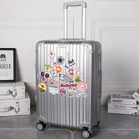 女生行李箱密码箱韩版28寸可爱复古拉杆个性欧美可爱小清新箱子潮 银色 包角