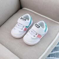春夏宝宝鞋子男童1-3岁运动休闲小白鞋女童网布透气软底学步鞋单鞋