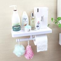 强力吸盘卫生间卷纸挂架洗漱用品整理架浴室厕所免打孔壁挂置物架
