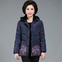 中老年秋冬装女外套新品奶奶棉衣中长款60-70岁短款妈妈棉袄