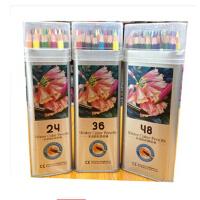 水溶彩铅光辉678 三角形铁盒12色18色24色36色48色 彩色铅笔画笔绘画