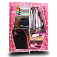 简易衣柜钢架组合布衣柜收纳衣橱