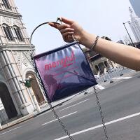 手提包包女2018新款韩版百搭链条单肩包休闲复古斜跨包小方包