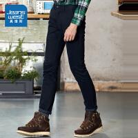 [超级大牌日每满299-150]真维斯休闲裤男 冬装男装弹力长裤青年裤子潮