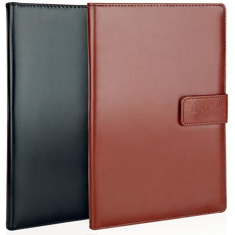 广博(GuangBo)16K100张商务笔记本子皮面会议记录本子记事本 颜色随机 单本装GBP0531