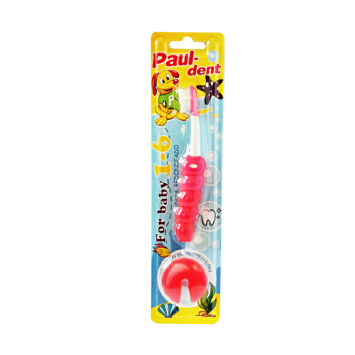 宝儿德Paul-dent儿童牙刷幼儿软毛防护训练牙刷乳牙清洁1-2-3-6岁