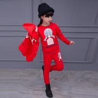3儿童装4女童5秋冬装2018新款6小女孩卫衣三件套装9加厚8加绒10岁