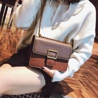 小包包女2018新款潮韩版时尚链条小方包少女斜挎包百搭单肩包