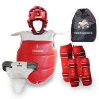 康瑞散打护具全套装儿童成人格斗搏击拳击护具五件套武术6件套 拳击跆拳道护具!大家请注意看产品细节:我们的拳击头盔是一次成型的,护胸是双面都可以使用加厚的,送护具包是大的。