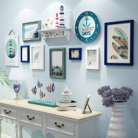 现代客厅照片墙装饰创意相框背景墙欧式相片墙组合框个性连体悬挂SN0717