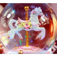 旋转木马音乐盒水晶球八音盒生日礼物女生儿童女孩天空之城520节