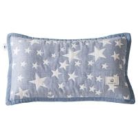 儿童枕套婴儿枕头套三层纱布透气荞麦壳枕芯套幼儿园宝宝枕套