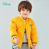 迪士尼Disney童装 男童V字领棉服中长款冬季新品儿童夹克外套夹棉保暖上衣194S1170