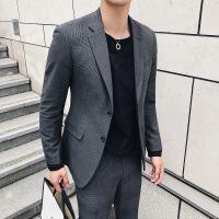 西服套装男韩版青年修身婚礼新郎伴郎英伦商务休闲职业西装两件套